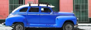 Cuba Fuerte Collection Panoramic - Blue Vintage Car by Philippe Hugonnard