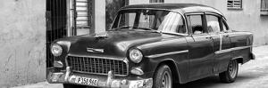 Cuba Fuerte Collection Panoramic BW - Beautiful Classic American Car II by Philippe Hugonnard