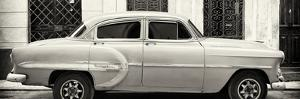 Cuba Fuerte Collection Panoramic BW - Bel Air Classic Car II by Philippe Hugonnard