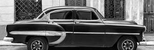 Cuba Fuerte Collection Panoramic BW - Bel Air Classic Car by Philippe Hugonnard