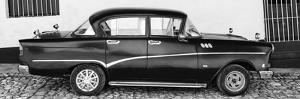 Cuba Fuerte Collection Panoramic BW - Classic Car in Trinidad II by Philippe Hugonnard
