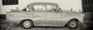 Cuba Fuerte Collection Panoramic BW - Classic Car in Trinidad by Philippe Hugonnard