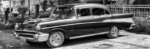 Cuba Fuerte Collection Panoramic BW - Classic Car in Vinales II by Philippe Hugonnard