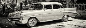 Cuba Fuerte Collection Panoramic BW - Classic Car in Vinales by Philippe Hugonnard