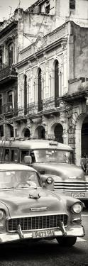 Cuba Fuerte Collection Panoramic BW - Classic Cars in Havana by Philippe Hugonnard
