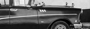 Cuba Fuerte Collection Panoramic BW - Close-up of Retro Car II by Philippe Hugonnard