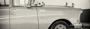 Cuba Fuerte Collection Panoramic BW - Close-up of Retro Car by Philippe Hugonnard