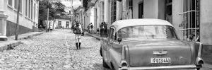 Cuba Fuerte Collection Panoramic BW - Colorful Street Scene in Trinidad II by Philippe Hugonnard