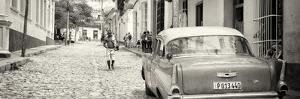 Cuba Fuerte Collection Panoramic BW - Colorful Street Scene in Trinidad by Philippe Hugonnard