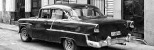 Cuba Fuerte Collection Panoramic BW - Cuban Classic Car in Havana II by Philippe Hugonnard