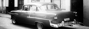 Cuba Fuerte Collection Panoramic BW - Cuban Classic Car in Havana by Philippe Hugonnard