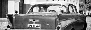Cuba Fuerte Collection Panoramic BW - Cuban Classic Car by Philippe Hugonnard