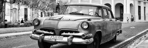 Cuba Fuerte Collection Panoramic BW - Cuban Retro Car II by Philippe Hugonnard