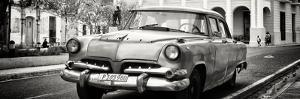 Cuba Fuerte Collection Panoramic BW - Cuban Retro Car by Philippe Hugonnard