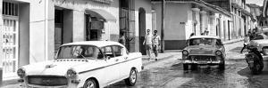Cuba Fuerte Collection Panoramic BW - Cuban Street Scene II by Philippe Hugonnard