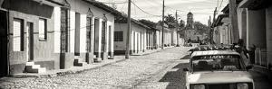 Cuba Fuerte Collection Panoramic BW - Cuban Street Scene in Trinidad by Philippe Hugonnard