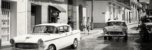 Cuba Fuerte Collection Panoramic BW - Cuban Street Scene by Philippe Hugonnard