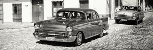 Cuba Fuerte Collection Panoramic BW - Cuban Taxis II by Philippe Hugonnard