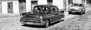 Cuba Fuerte Collection Panoramic BW - Cuban Taxis by Philippe Hugonnard