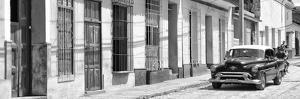 Cuba Fuerte Collection Panoramic BW - Cuban Urban Scene II by Philippe Hugonnard