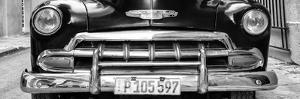 Cuba Fuerte Collection Panoramic BW - Detail on Classic Chevy by Philippe Hugonnard