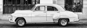 Cuba Fuerte Collection Panoramic BW - Havana Club and Classic Car II by Philippe Hugonnard