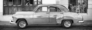 Cuba Fuerte Collection Panoramic BW - Havana Club and Classic Car by Philippe Hugonnard