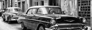 Cuba Fuerte Collection Panoramic BW - Old Cars Chevrolet by Philippe Hugonnard