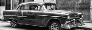 Cuba Fuerte Collection Panoramic BW - Old Chevy II by Philippe Hugonnard
