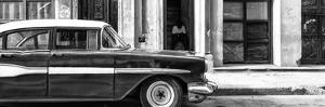 Cuba Fuerte Collection Panoramic BW - Old Classic American Car II by Philippe Hugonnard