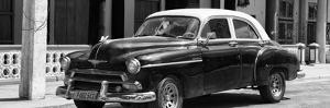 Cuba Fuerte Collection Panoramic BW - Old Classic Car II by Philippe Hugonnard