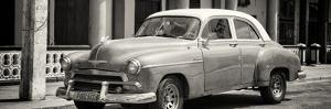 Cuba Fuerte Collection Panoramic BW - Old Classic Car by Philippe Hugonnard