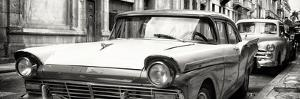 Cuba Fuerte Collection Panoramic BW - Old Ford Car by Philippe Hugonnard