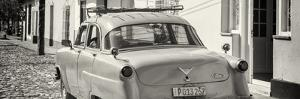 Cuba Fuerte Collection Panoramic BW - Old Ford Classic Car by Philippe Hugonnard