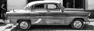 Cuba Fuerte Collection Panoramic BW - Retro Car II by Philippe Hugonnard