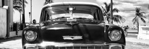 Cuba Fuerte Collection Panoramic BW - Retro Chevy by Philippe Hugonnard