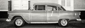 Cuba Fuerte Collection Panoramic BW - Retro Classic Car by Philippe Hugonnard