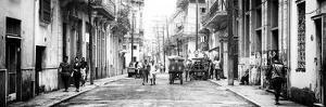 Cuba Fuerte Collection Panoramic BW - Street Scene in Havana III by Philippe Hugonnard