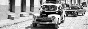 Cuba Fuerte Collection Panoramic BW - Taxis in Trinidad II by Philippe Hugonnard