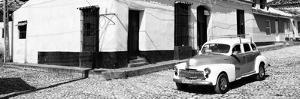 Cuba Fuerte Collection Panoramic BW - Trinidad Colorful Street Scene II by Philippe Hugonnard