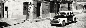 Cuba Fuerte Collection Panoramic BW - Trinidad Colorful Street Scene by Philippe Hugonnard