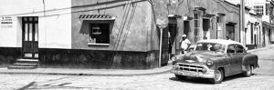 Cuba Fuerte Collection Panoramic BW - Trinidad Street Scene II by Philippe Hugonnard