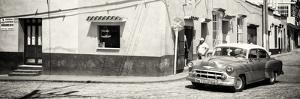 Cuba Fuerte Collection Panoramic BW - Trinidad Street Scene by Philippe Hugonnard