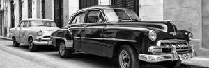 Cuba Fuerte Collection Panoramic BW - Two Classic Cars by Philippe Hugonnard