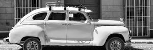 Cuba Fuerte Collection Panoramic BW - Vintage Car Trinidad by Philippe Hugonnard