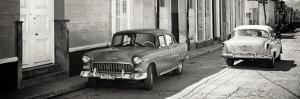 Cuba Fuerte Collection Panoramic BW - Vintage Cars in Trinidad by Philippe Hugonnard