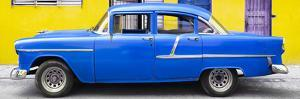 Cuba Fuerte Collection Panoramic - Classic American Blue Car in Havana by Philippe Hugonnard