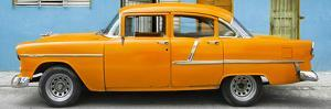 Cuba Fuerte Collection Panoramic - Classic American Orange Car in Havana by Philippe Hugonnard