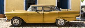 Cuba Fuerte Collection Panoramic - Classic Golden Car II by Philippe Hugonnard
