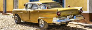 Cuba Fuerte Collection Panoramic - Classic Golden Car by Philippe Hugonnard